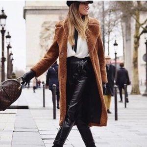 Zara long teddy bear coat